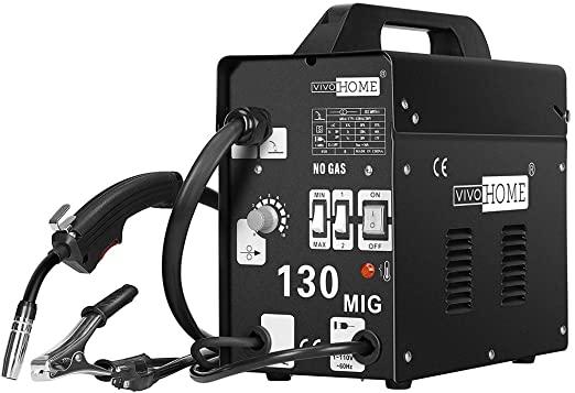 VIVOHOME Portable Flux Core Wire No Gas MIG 130 Welder Machine